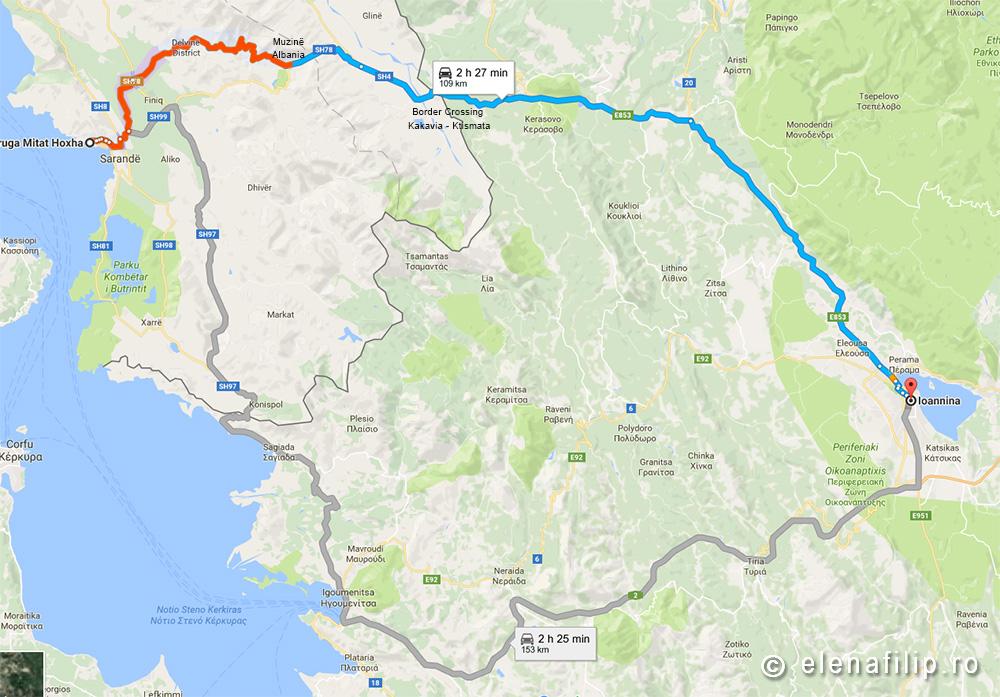 Traseu Albania Grecia vamă