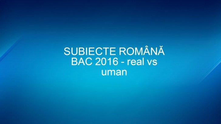 subiecte BAC română 2016