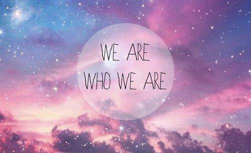 suntem cine suntem
