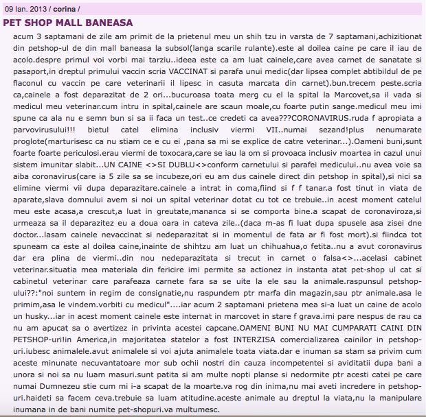 petshop mall baneasa