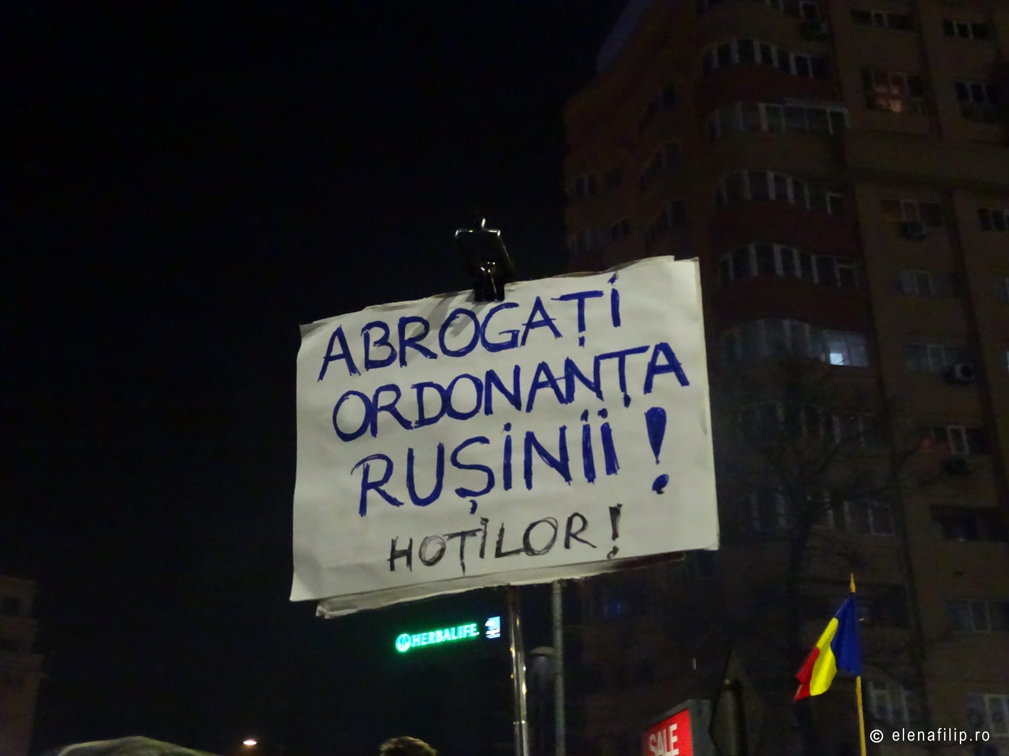 protest in Bucharest Romania