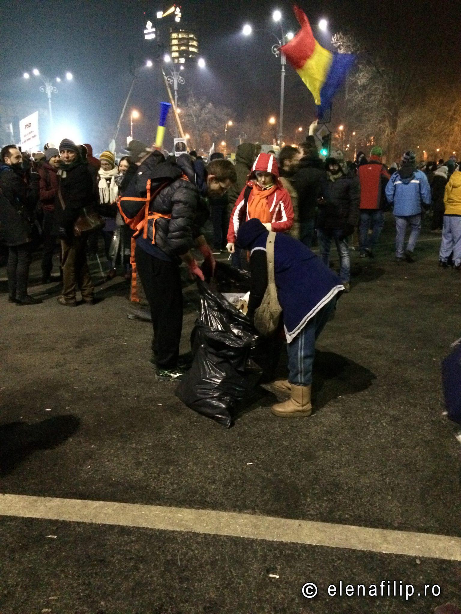 curatenie proteste bucuresti