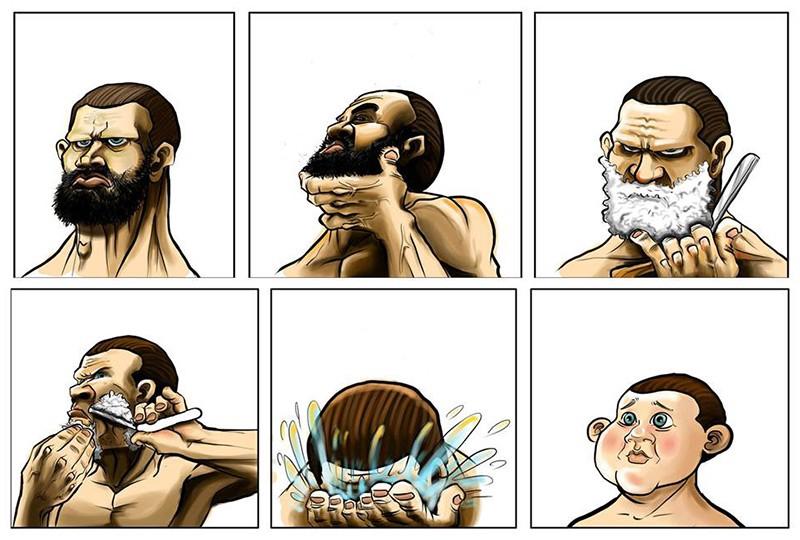 cu barba sau fara barba