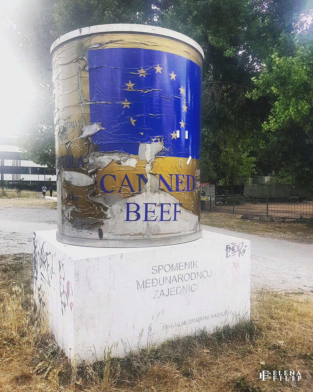 canned beef memorial sarajevo